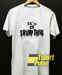 Swamp Thing Letter Melt shirt