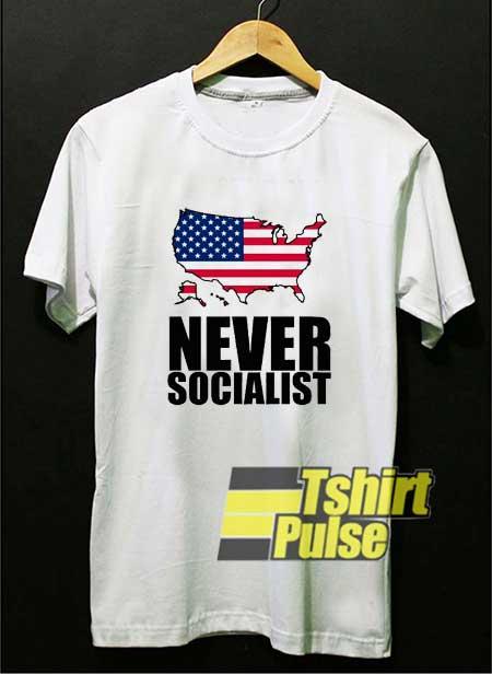 Anti Socialist Usa Flag 2021 shirt