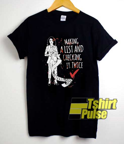 Arya Stark Checking It Twice shirt