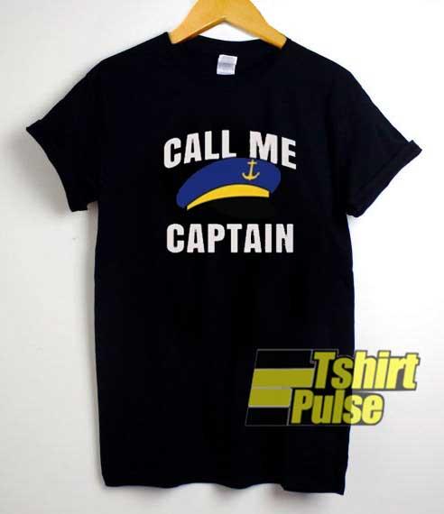 Call Me Captain Funny Parody shirt