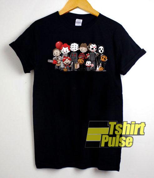 Chibi Characters Horror shirt