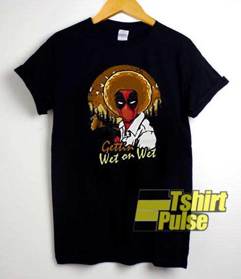 Deadpool Parody Bob Ross Art shirt