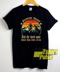 Fornicate Thyself Retro shirt