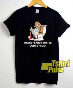Funny Peanut Butter Lettering shirt