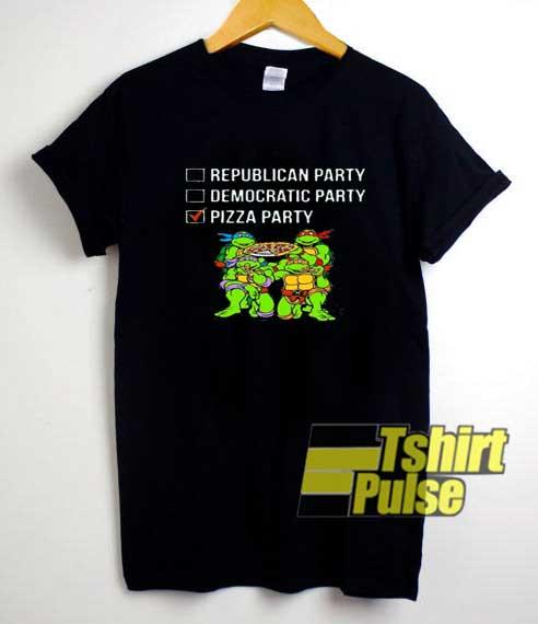 Ninja Pizza Party List Funny shirt