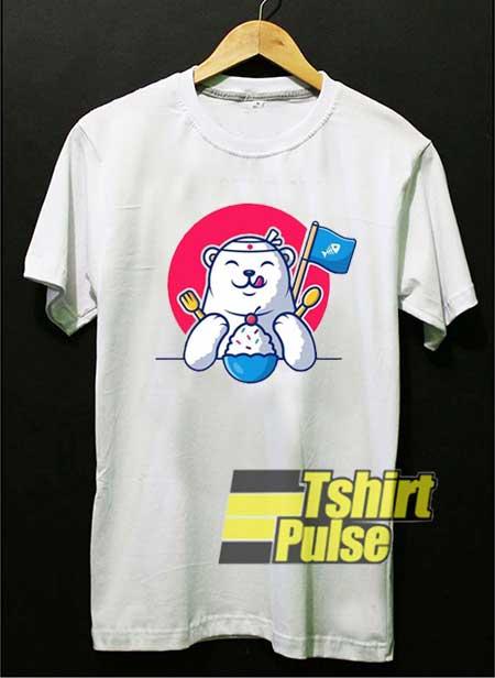 Polar Bear Want Eat Ice Cream shirt