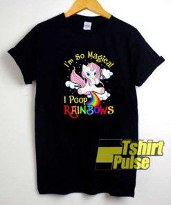 Poop Rainbows Magic Unicorn shirt