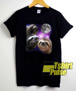 Sloth Three Moon Meme shirt