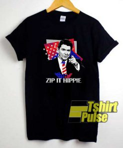 Zip It Hippie Reagan shirt